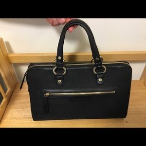 Pre-owned black BVLGARI canvas Boston Bag